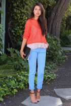 carrot orange Rebecca Taylor sweater - black 31 Phillip Lim bag