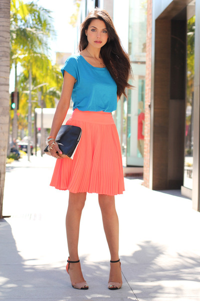 orange Nanette Lepore skirt - orange Zara shoes - black 31 Phillip Lim bag