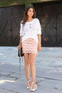 White-dkny-sweater-black-rebecca-minkoff-bag-pink-goodnight-macaroon-skirt