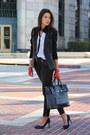 Black-helmut-lang-blazer-navy-plia-designs-bag-black-free-people-pants