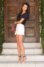 Maroon-jack-germain-bag-black-aqua-blouse-ivory-asos-skirt