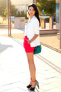 Turquoise-blue-rebecca-minkoff-bag-hot-pink-madewell-skirt