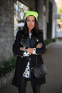 Black-barbara-bui-boots-black-juicy-couture-coat-yellow-forever-21-hat