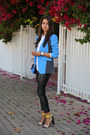 White-zara-sweater-black-club-monaco-leggings-blue-rag-bone-blazer
