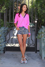 Hot-pink-j-crew-sweater-white-rebecca-minkoff-bag-white-j-crew-shorts