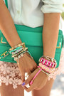 Turquoise-blue-rebecca-minkoff-bag-light-pink-goodnight-macaroon-skirt