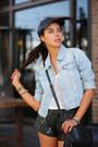 Black-shopbop-hat-sky-blue-levis-jacket-black-gucci-bag