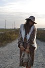 Ivory-h-m-vest-dark-brown-mango-dress-eggshell-topshop-hat