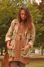 Brown-zara-bag-camel-asos-boots-bronze-h-m-dress-dark-khaki-vintage-jacket