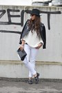 Black-bershka-shoes-white-met-jeans-black-zara-hat-black-romwe-jacket