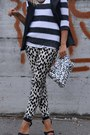 Charcoal-gray-zara-sweater-white-h-m-bag-white-h-m-pants-black-zara-vest