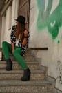 Chartreuse-pants-zara-pants-black-vintage-blazer-vintage-blazer