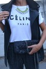 Yellow-h-m-necklace-black-zara-bag-black-zara-vest-black-zara-pants