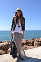 black H&M boots - silver Zara dress - cream H&M hat - black Zara jacket