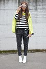 Chartreuse-h-m-blazer-black-zara-bag-white-h-m-sunglasses