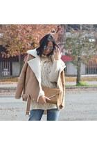 bronze OASAP jacket - beige H&M sweater