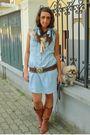 Blue-h-m-dress-brown-made-in-marrakech-belt-brown-no-brand-boots-blue-h-m-