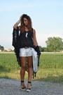 White-zara-bag-white-h-m-shorts-white-h-m-necklace-black-forever-21-wedges