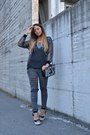 Heather-gray-bershka-jeans-silver-romwe-jacket-black-romwe-bag