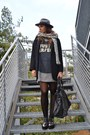 Silver-zara-dress-silver-river-island-shoes-black-zara-coat