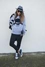 Black-zara-blazer-heather-gray-h-m-hat-silver-italian-brand-fritlex-sweater