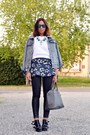 Heather-gray-oasap-jacket-blue-oasap-skirt