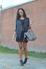 Black-persun-boots-black-sheinside-dress-silver-celine-bag