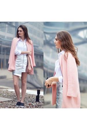 bubble gum pastel color Zara coat