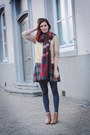 Gold-sweater-bronze-boots-navy-tights