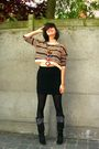 Beige-sweater-black-skirt-black-tights-black-boots-brown-necklace