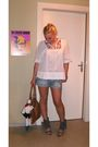 White-h-m-blouse-h-m-shorts-h-m-bag-vintage-scarf-no-name-shoes