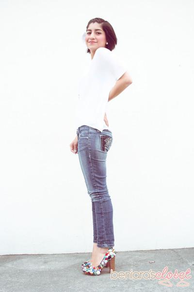 diy pumps - white top