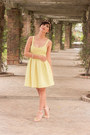 Light-yellow-zara-trf-dress-neutral-charlotte-russe-heels