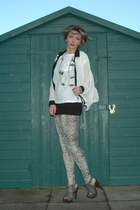 snake print Republic leggings - black bowler Monki hat - white Republic blouse