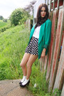 Vibrant-green-annie-and-the-mannequins-blazer-polka-dot-topshop-shorts-white