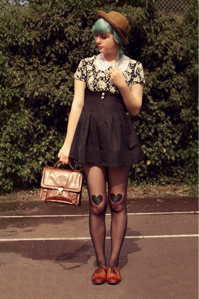 black DIY stockings - brown straw bowler Wholesale-Dress hat