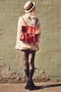 Black-suede-lace-up-rubi-shoes-wedges-light-pink-floral-sheinside-dress