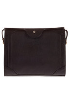 Grained Black Leather Bag