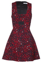 Muse of Red Print Dress