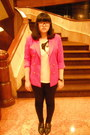 Black-no-brand-shoes-black-no-brand-jeans-hot-pink-money-come-blazer-ruby-