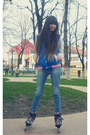 Stradivarius-jeans-blue-terranova-college-jacket