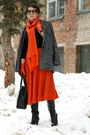 Charcoal-gray-mango-coat-carrot-orange-asos-skirt