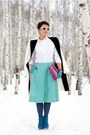 White-tatuum-shirt-amethyst-prada-bag-aquamarine-asos-skirt