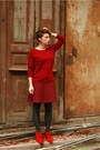 Red-zara-shoes-brick-red-gap-sweater-brick-red-gap-skirt