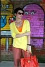 Light-yellow-zara-sweater-carrot-orange-michael-kors-bag-orange-zara-t-shirt