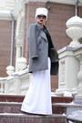 Heather-gray-zara-coat-white-stradivarius-hat-black-h-m-sweater