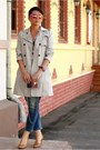 Navy-zara-jeans-off-white-zara-cape