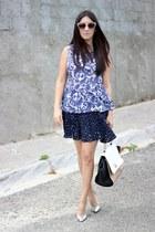 Shoedazzle bag - beige Zara sunglasses - silver Shoedazzle pumps - Express skirt