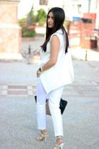 Shoedazzle bag - Forever 21 top - Forever21 pants - Sheinsidecom vest