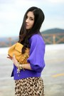 Brown-forever-21-dress-purple-local-store-jacket-mustard-banana-republic-bag